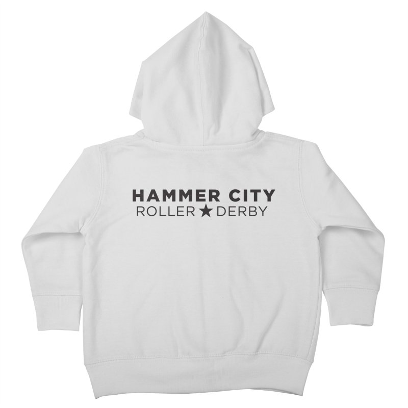 HCRD Banner Kids Toddler Zip-Up Hoody by Hammer City Roller Derby