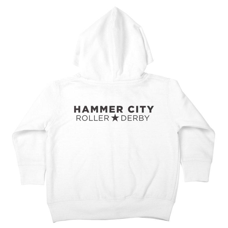 HCRD Banner Kids Toddler Zip-Up Hoody by Hammer City Roller Derby