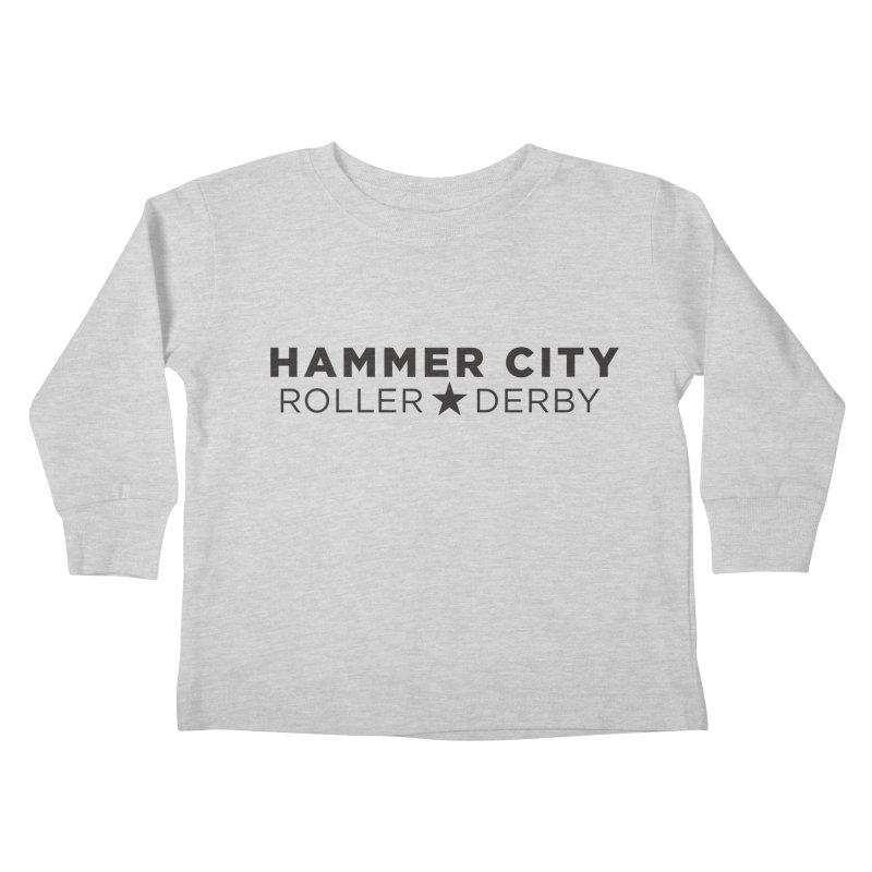 HCRD Banner Kids Toddler Longsleeve T-Shirt by Hammer City Roller Derby