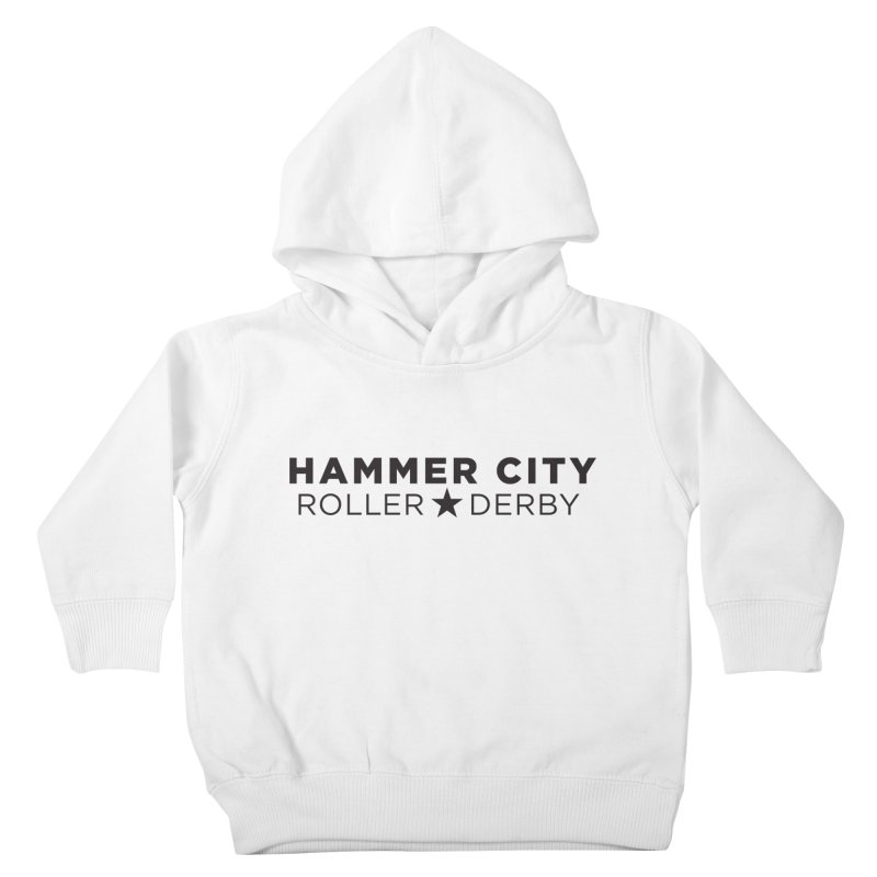 HCRD Banner Kids Toddler Pullover Hoody by Hammer City Roller Derby