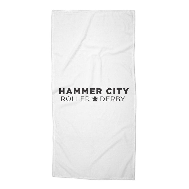 HCRD Banner Accessories Beach Towel by Hammer City Roller Derby