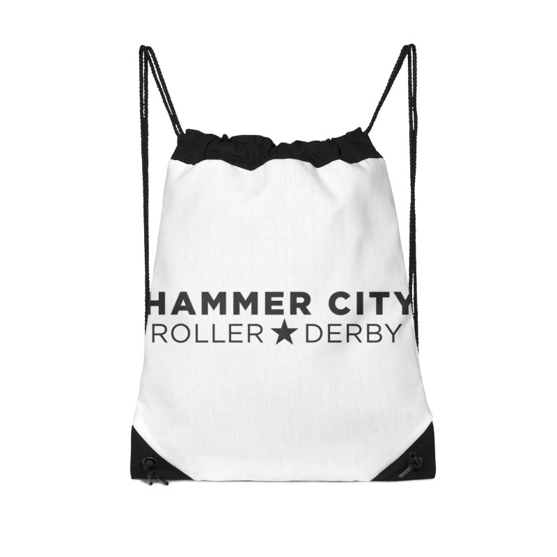 HCRD Banner Accessories Drawstring Bag Bag by Hammer City Roller Derby