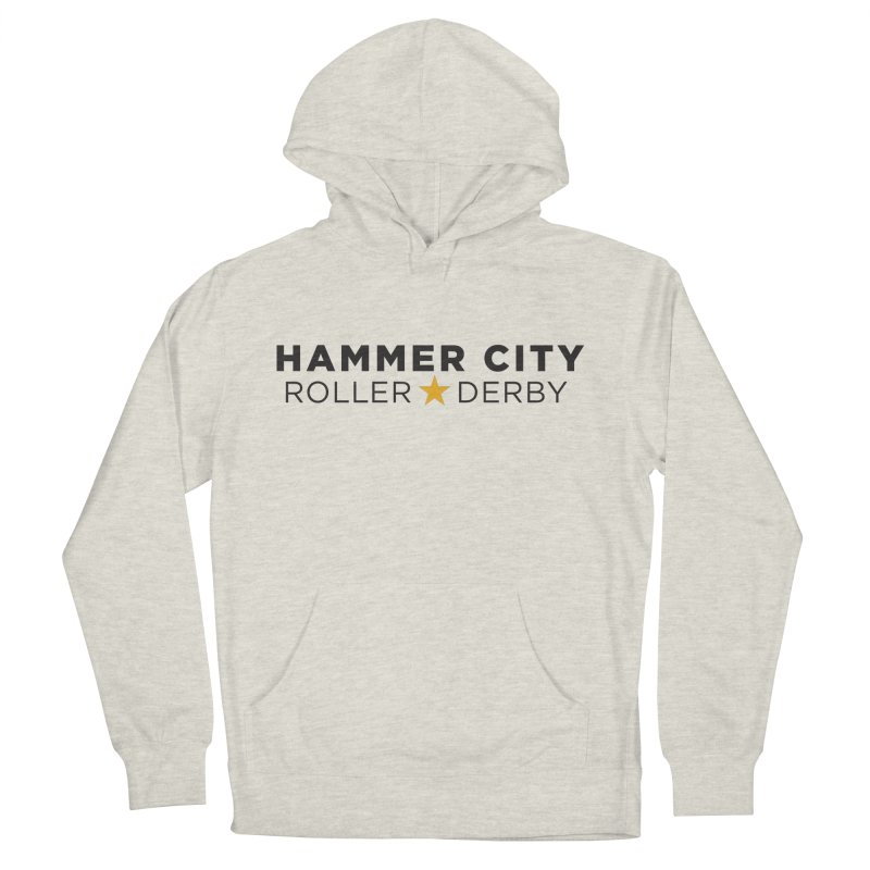 HCRD Banner Men's Pullover Hoody by Hammer City Roller Derby