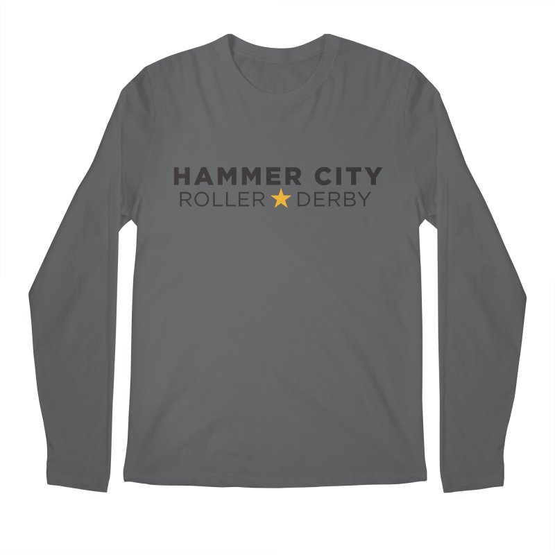 HCRD Banner Men's Longsleeve T-Shirt by Hammer City Roller Derby