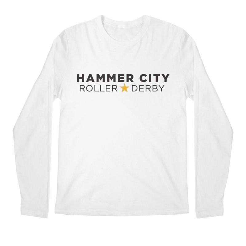 HCRD Banner Men's Longsleeve T-Shirt by Hammer City Roller Derby