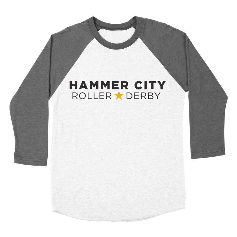 HCRD Banner Men's Baseball Triblend Longsleeve T-Shirt by Hammer City Roller Derby