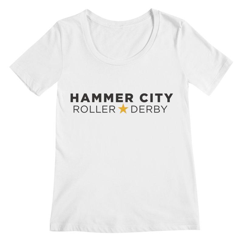 HCRD Banner Women's Regular Scoop Neck by Hammer City Roller Derby
