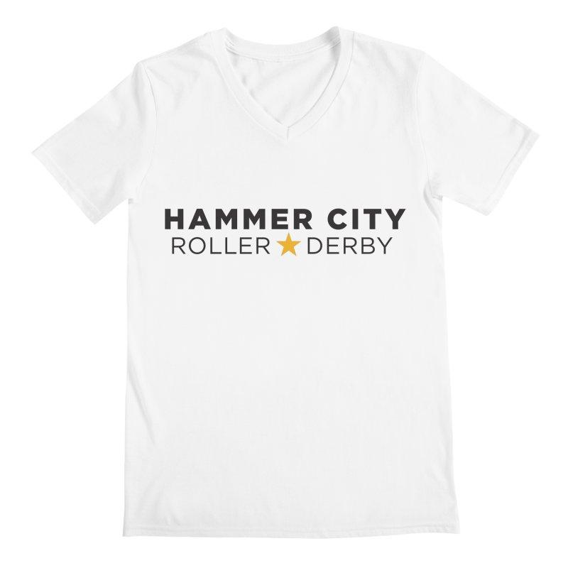 HCRD Banner Men's Regular V-Neck by Hammer City Roller Derby