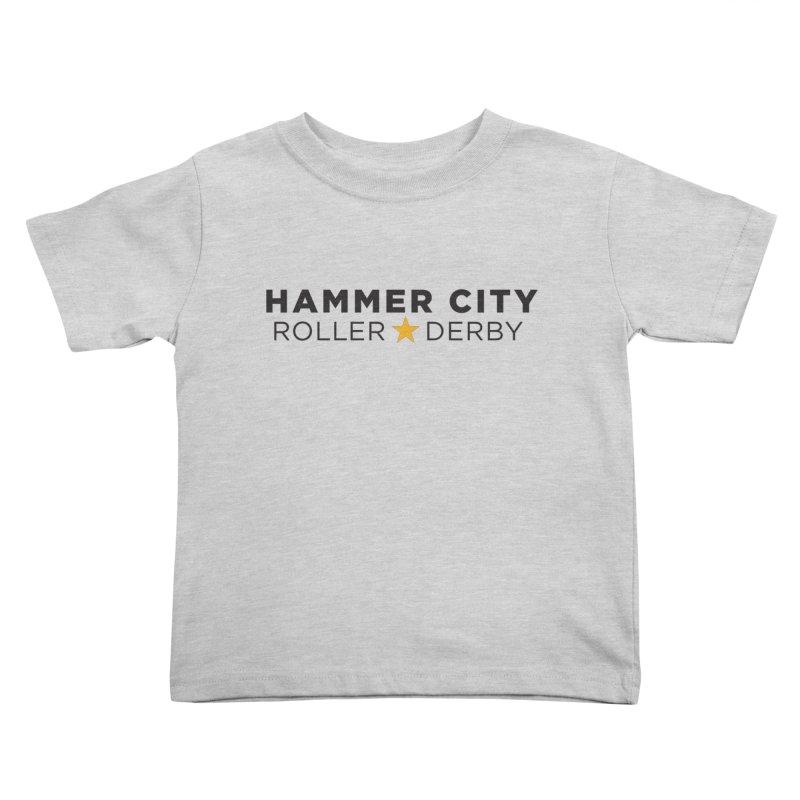 HCRD Banner Kids Toddler T-Shirt by Hammer City Roller Derby