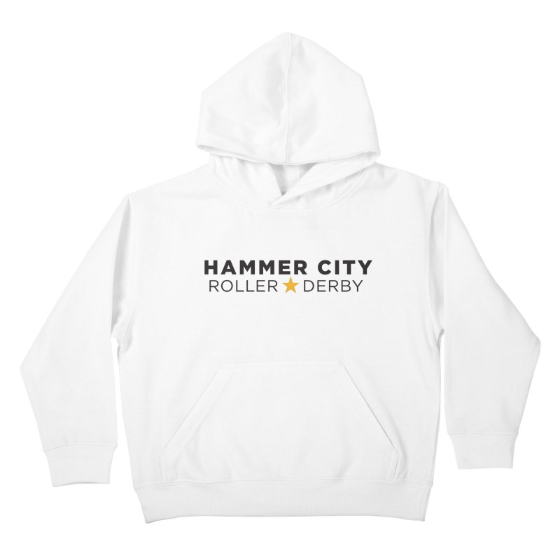 HCRD Banner Kids Pullover Hoody by Hammer City Roller Derby