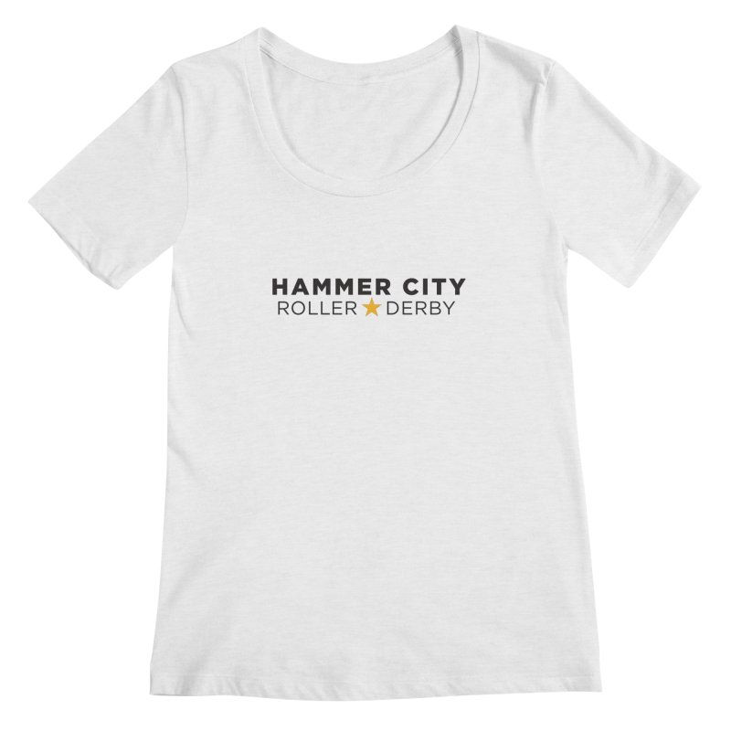 HCRD Banner Women's Scoopneck by Hammer City Roller Derby