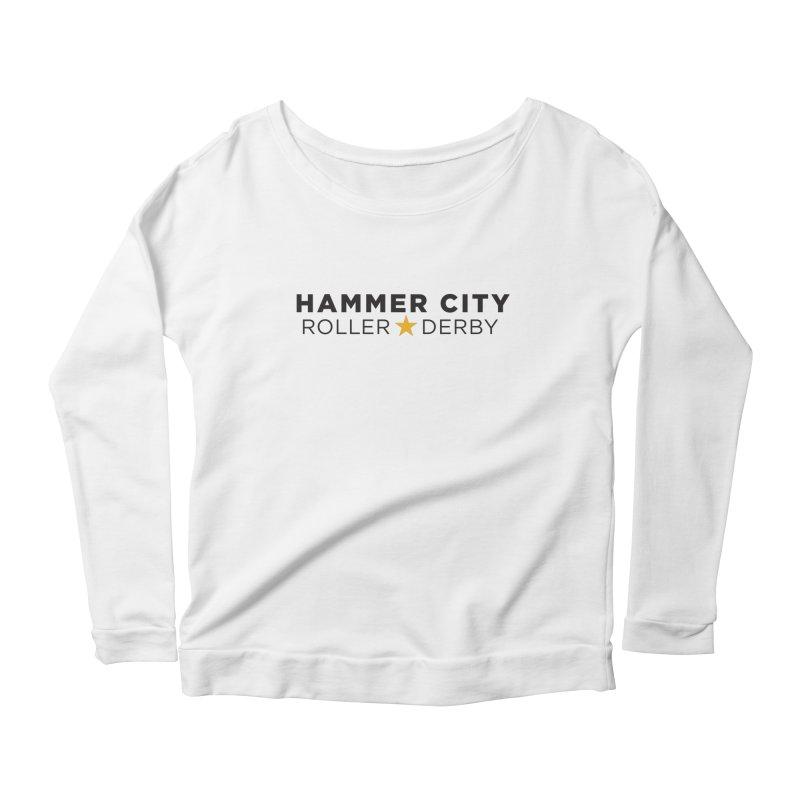 HCRD Banner Women's Longsleeve Scoopneck  by Hammer City Roller Derby