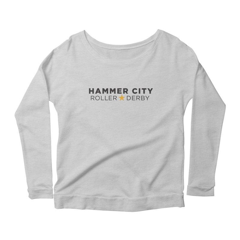 HCRD Banner Women's Scoop Neck Longsleeve T-Shirt by Hammer City Roller Derby