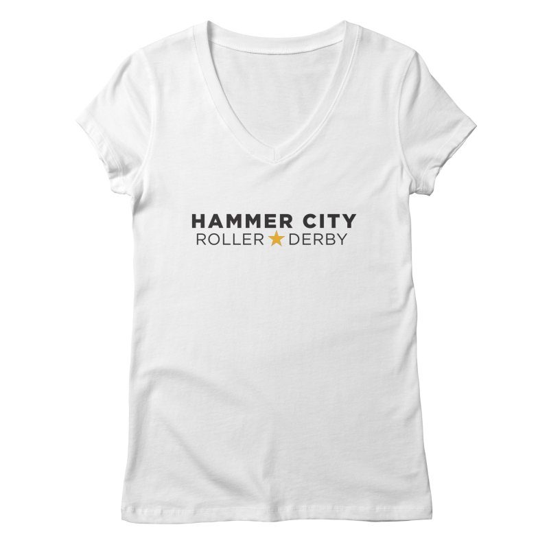 HCRD Banner Women's Regular V-Neck by Hammer City Roller Derby