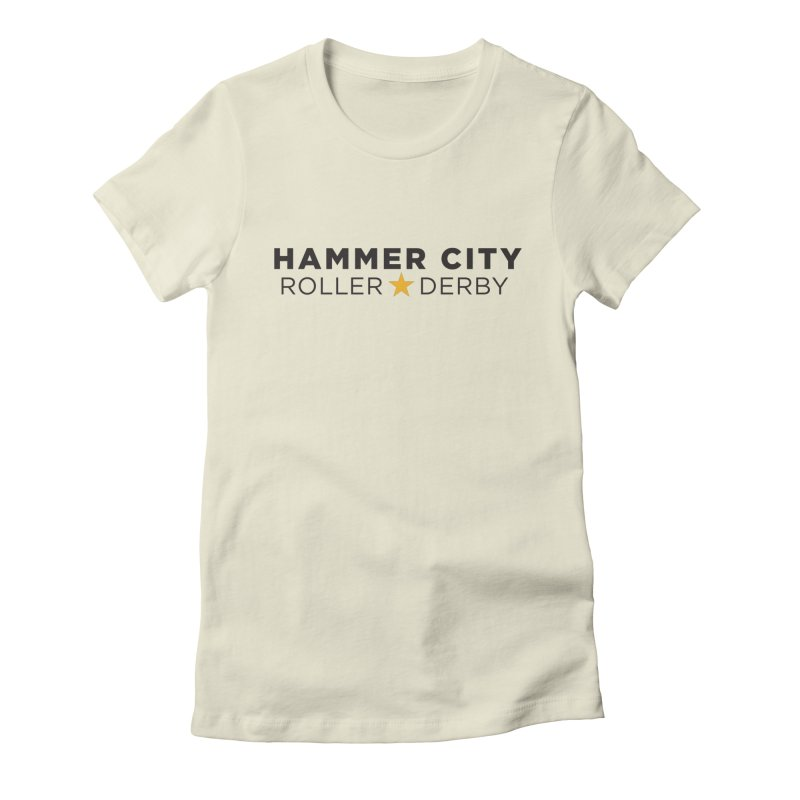HCRD Banner Women's Fitted T-Shirt by Hammer City Roller Derby