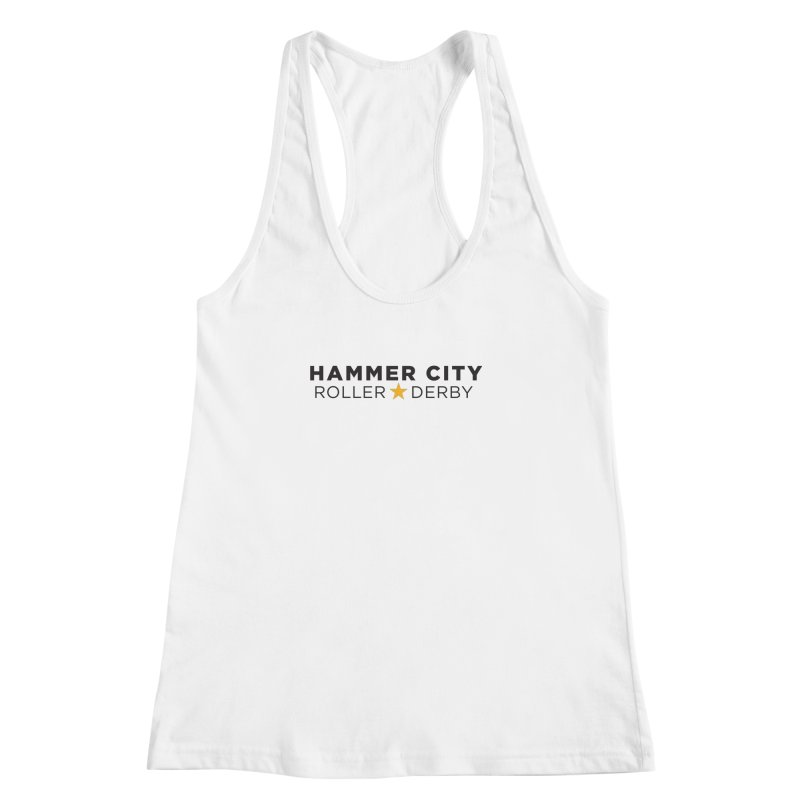 HCRD Banner Women's Racerback Tank by Hammer City Roller Derby