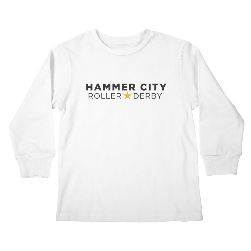 HCRD Banner Kids Longsleeve T-Shirt by Hammer City Roller Derby