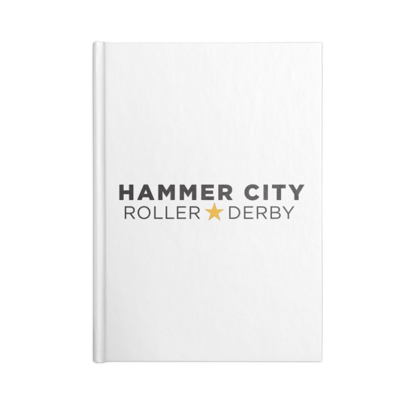 HCRD Banner Accessories Lined Journal Notebook by Hammer City Roller Derby