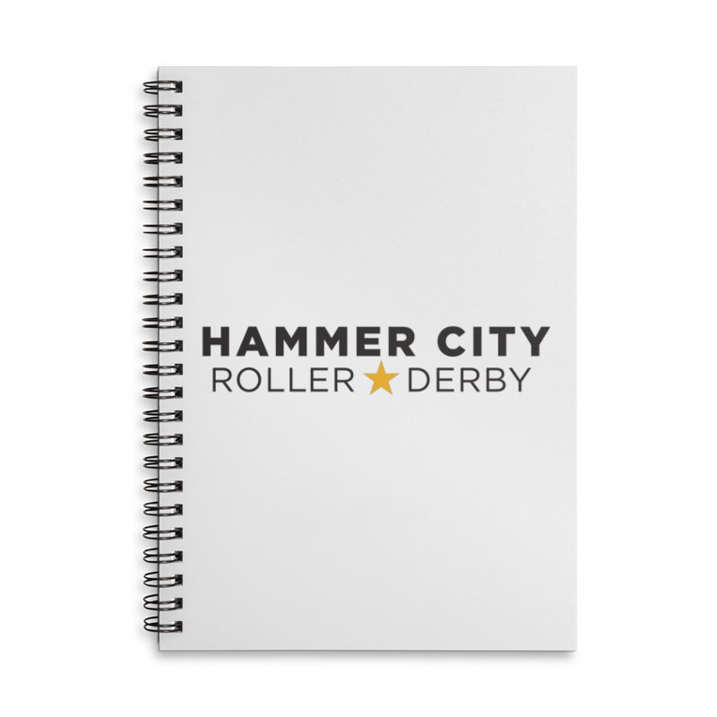 HCRD Banner Accessories Lined Spiral Notebook by Hammer City Roller Derby