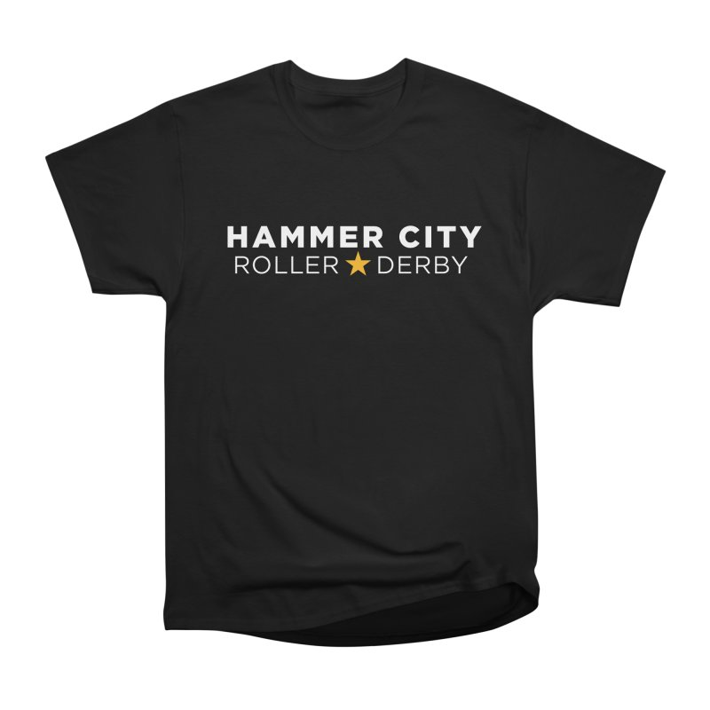 HCRD Banner Women's Heavyweight Unisex T-Shirt by Hammer City Roller Derby