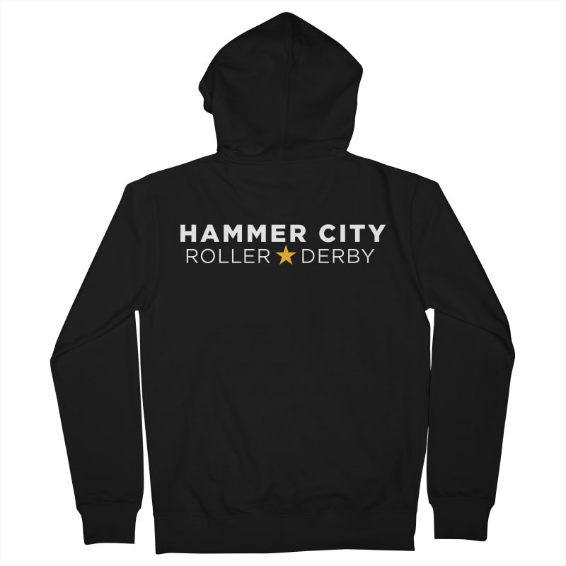 HCRD Banner Men's Zip-Up Hoody by Hammer City Roller Derby