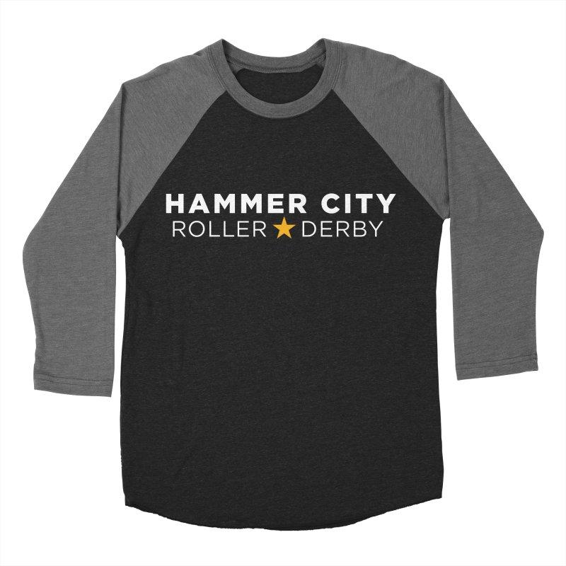 HCRD Banner Women's Baseball Triblend T-Shirt by Hammer City Roller Derby