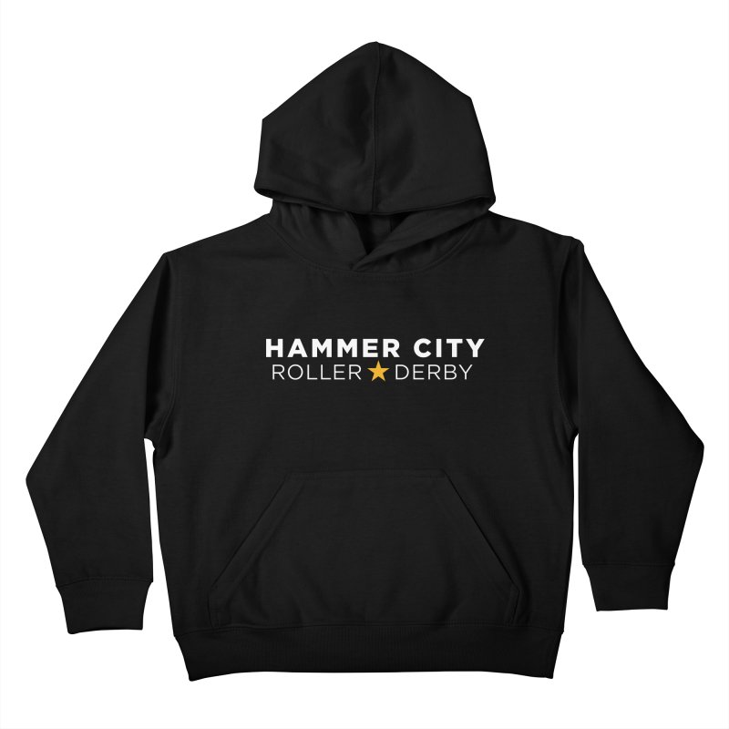 HCRD Banner Kids Pullover Hoody by Hammer City Roller Derby
