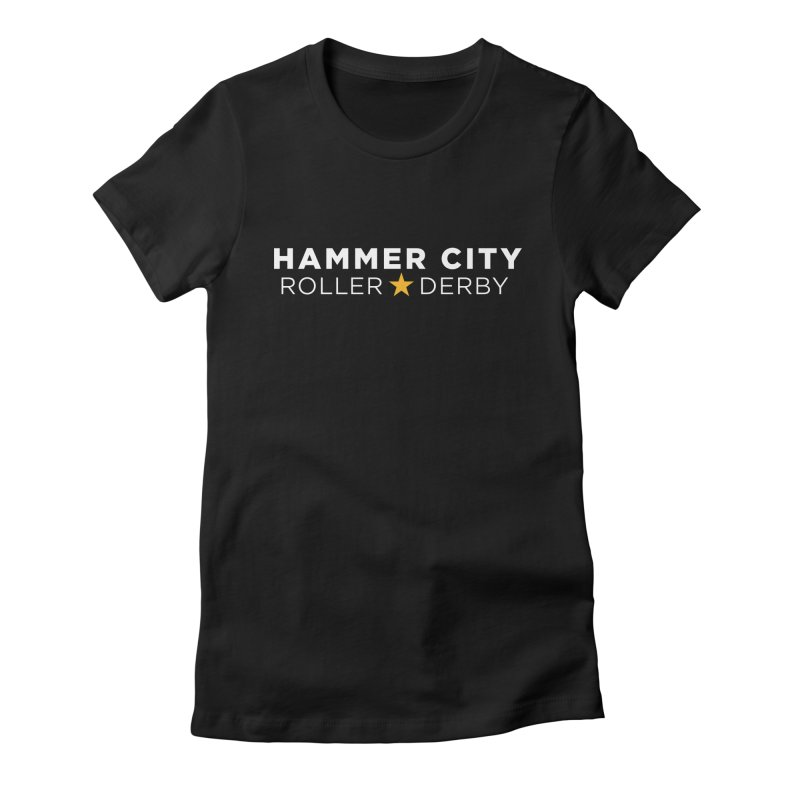 HCRD Banner Women's French Terry Zip-Up Hoody by Hammer City Roller Derby