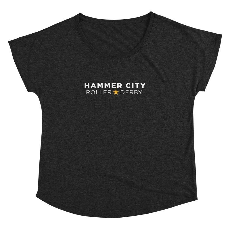 HCRD Banner Women's Dolman Scoop Neck by Hammer City Roller Derby