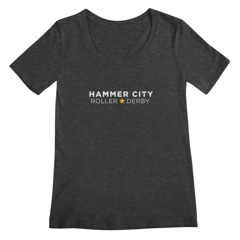 HCRD Banner Women's Scoopneck by Hammer City Roller Derby