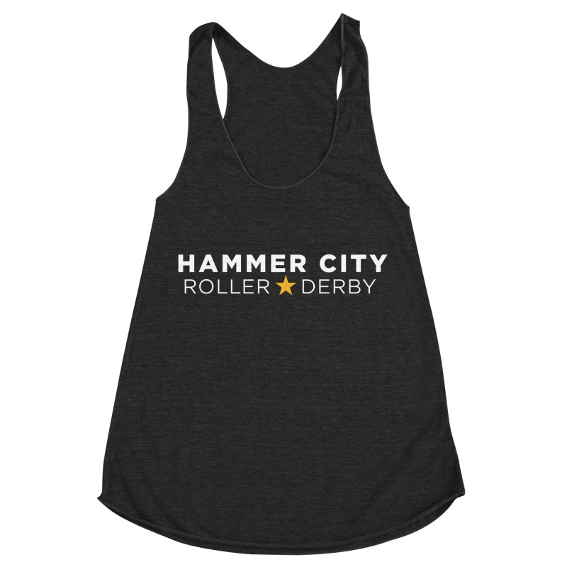 HCRD Banner Women's Racerback Triblend Tank by Hammer City Roller Derby
