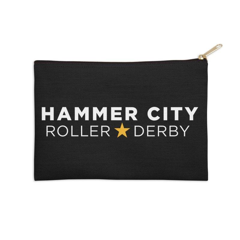 HCRD Banner Accessories Zip Pouch by Hammer City Roller Derby