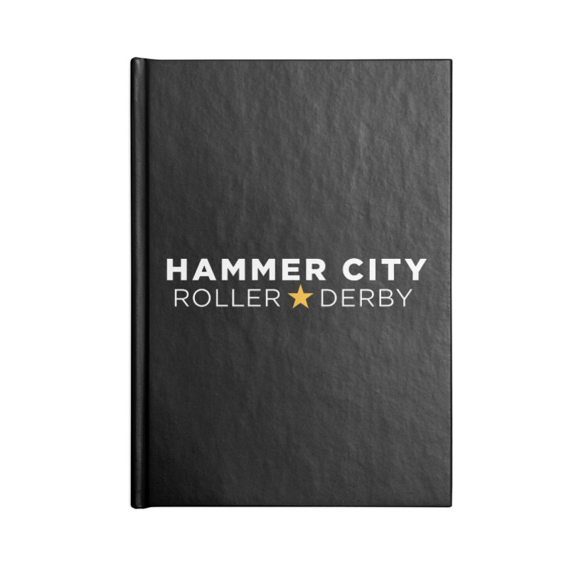 HCRD Banner Accessories Blank Journal Notebook by Hammer City Roller Derby