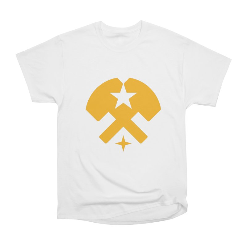 HCRD Stars and Hammers Men's Heavyweight T-Shirt by Hammer City Roller Derby
