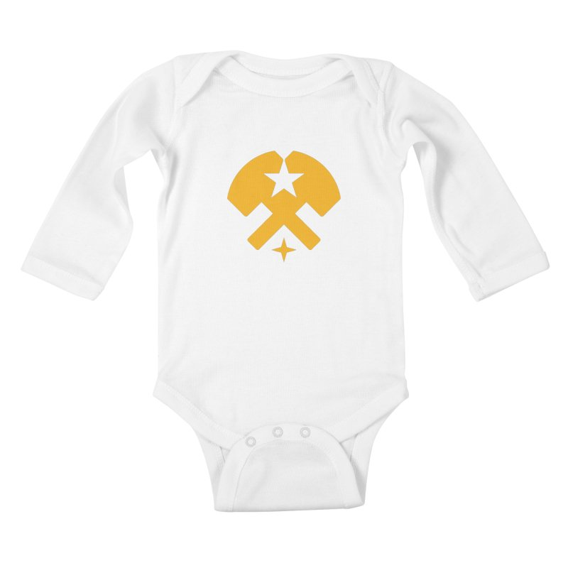 HCRD Stars and Hammers Kids Baby Longsleeve Bodysuit by Hammer City Roller Derby