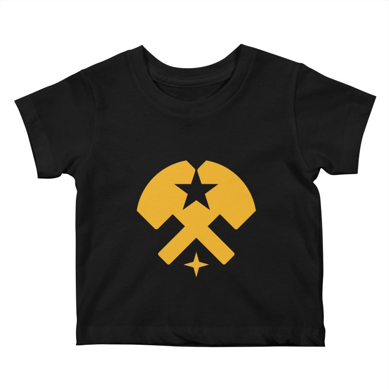 HCRD Stars and Hammers Kids Baby T-Shirt by Hammer City Roller Derby