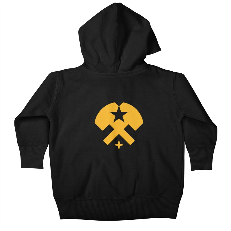 HCRD Stars and Hammers Kids Baby Zip-Up Hoody by Hammer City Roller Derby