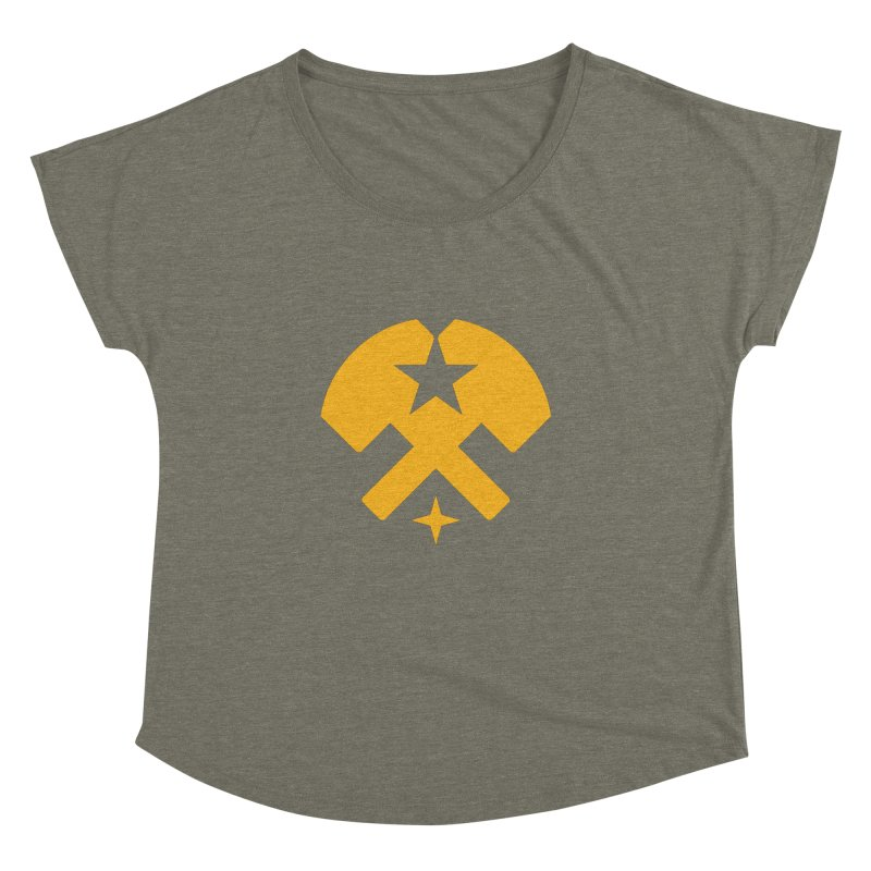 HCRD Stars and Hammers Women's Dolman by Hammer City Roller Derby