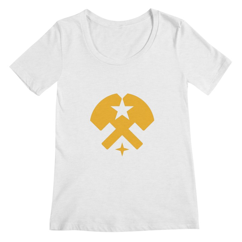 HCRD Stars and Hammers Women's Regular Scoop Neck by Hammer City Roller Derby