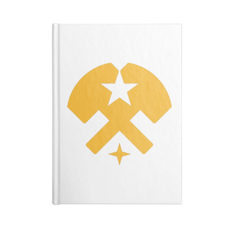 HCRD Stars and Hammers Accessories Lined Journal Notebook by Hammer City Roller Derby