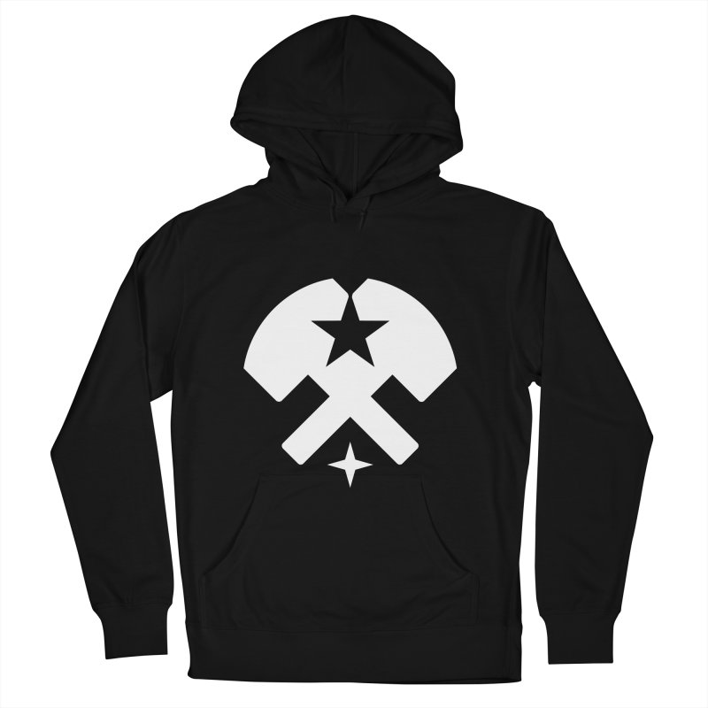 HCRD Stars and Hammers Men's French Terry Pullover Hoody by Hammer City Roller Derby