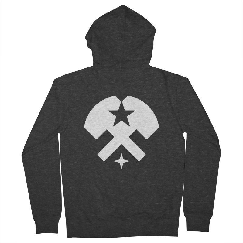 HCRD Stars and Hammers Men's French Terry Zip-Up Hoody by Hammer City Roller Derby