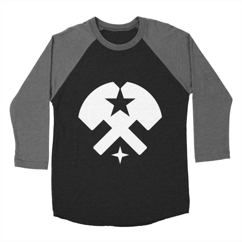 HCRD Stars and Hammers Women's Baseball Triblend Longsleeve T-Shirt by Hammer City Roller Derby