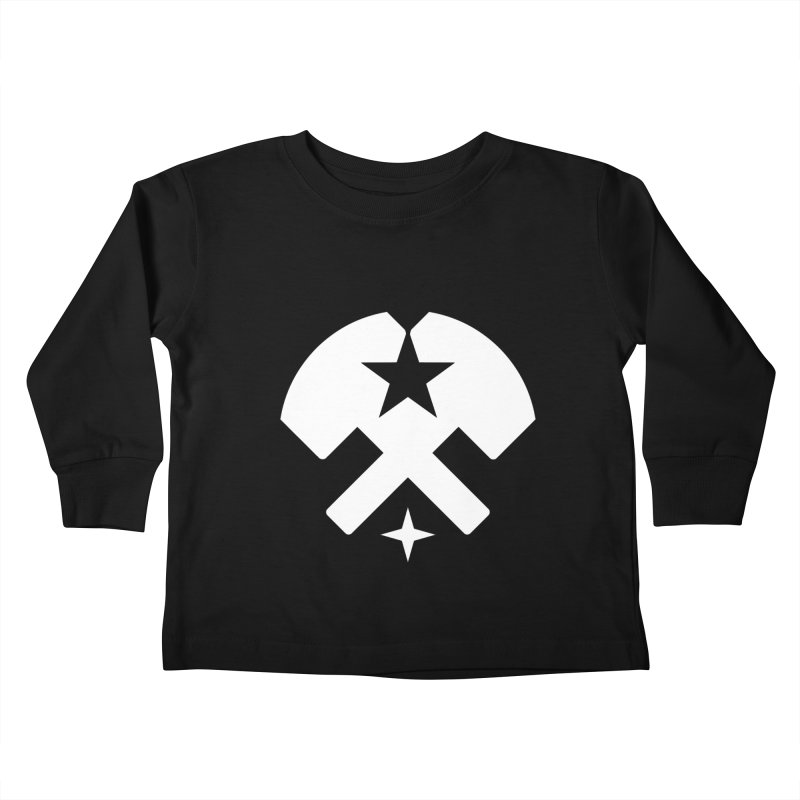 HCRD Stars and Hammers Kids Toddler Longsleeve T-Shirt by Hammer City Roller Derby