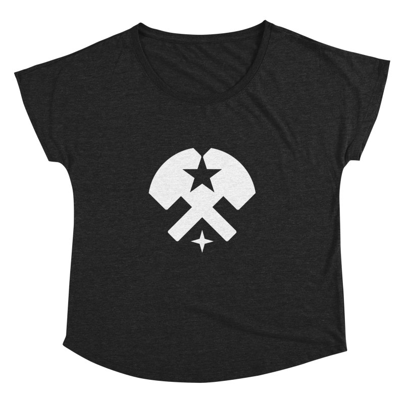 HCRD Stars and Hammers Women's Dolman Scoop Neck by Hammer City Roller Derby
