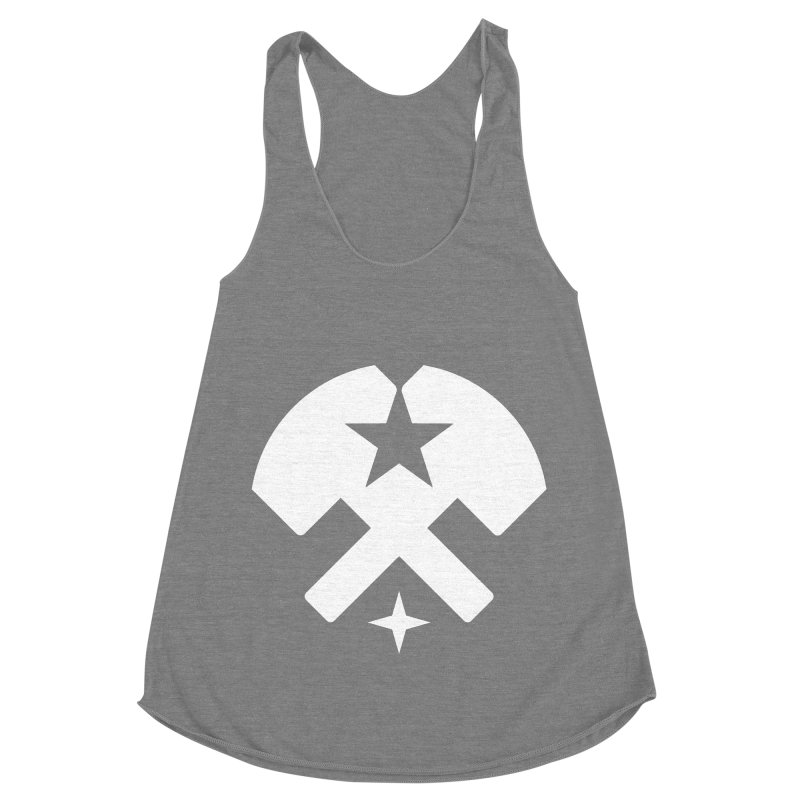 HCRD Stars and Hammers Women's Racerback Triblend Tank by Hammer City Roller Derby