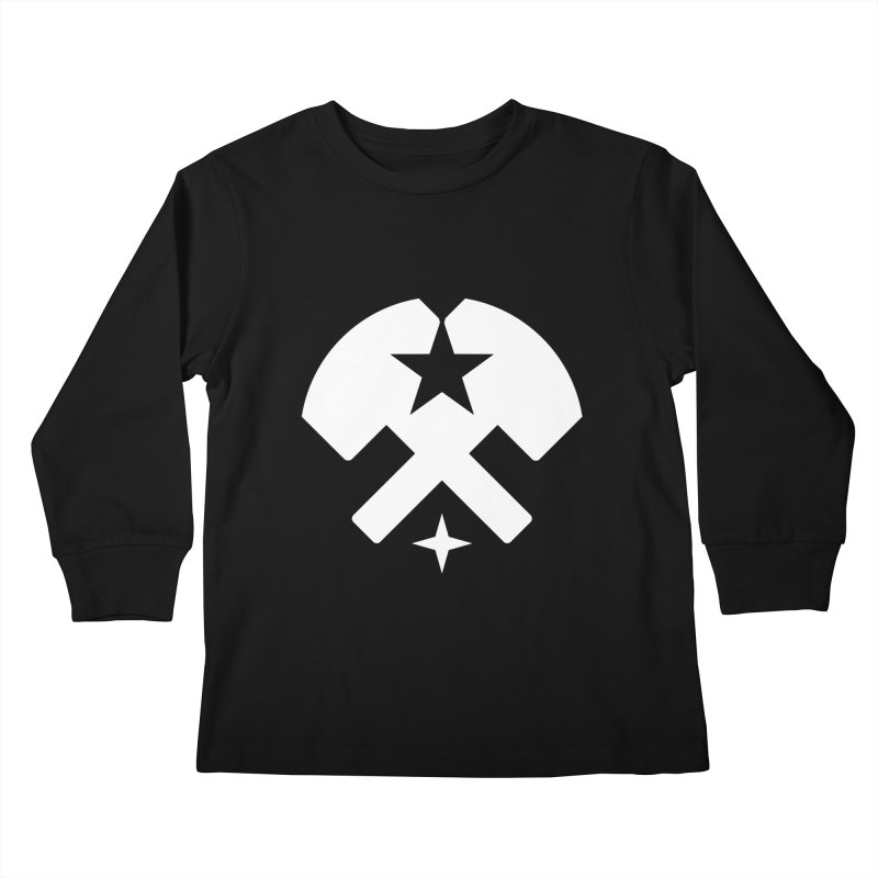 HCRD Stars and Hammers Kids Longsleeve T-Shirt by Hammer City Roller Derby