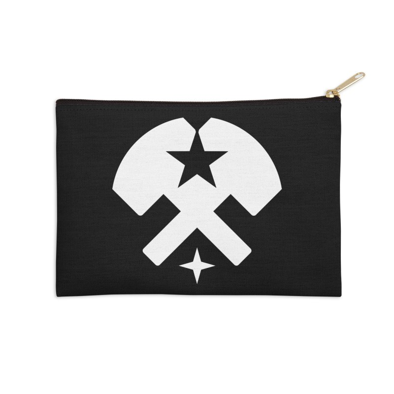 HCRD Stars and Hammers Accessories Zip Pouch by Hammer City Roller Derby