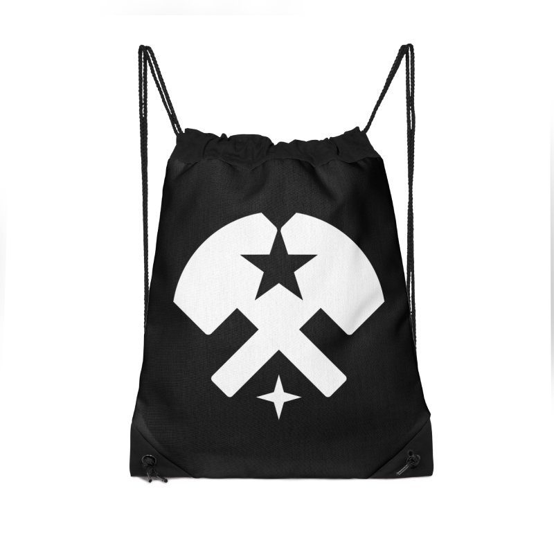 HCRD Stars and Hammers Accessories Drawstring Bag Bag by Hammer City Roller Derby