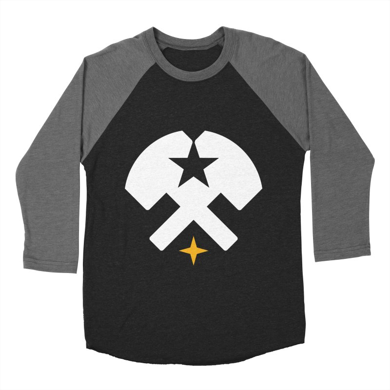 HCRD Stars and Hammers Men's Baseball Triblend Longsleeve T-Shirt by Hammer City Roller Derby